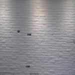 Biała cegiełka angielska malowana